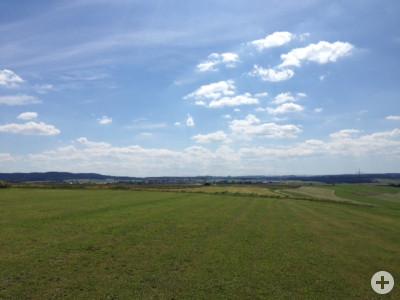 Blick vom Modellflugplatz nach Westen