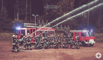 Die Mannschaft der Feuerwehr Denkingen im Herbst 2016