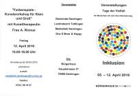 Flyer Inklusion Veranstaltungen Seite 1