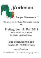 Raupe Nimmersatt Plakat