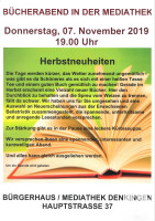 Plakat Bücherabend